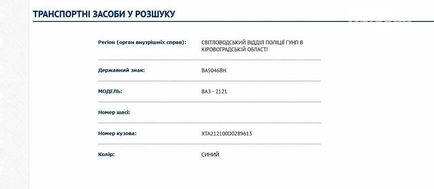 "На Кировоградщине угнали ""Ниву"", фото-1"