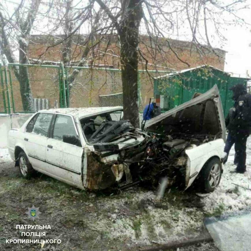"В Кропивницком произошло ДТП: дерево уничтожило ""BMW""  ФОТО, фото-1"
