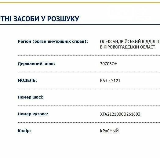 """В Кировоградской области угнали авто """"ВАЗ"""", фото-1"""