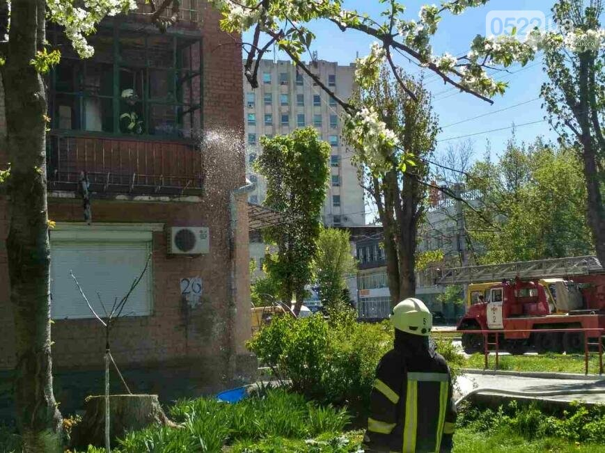 Кропивницький: вогнеборці ліквідували пожежу на балконі житлового будинку ФОТО, фото-1