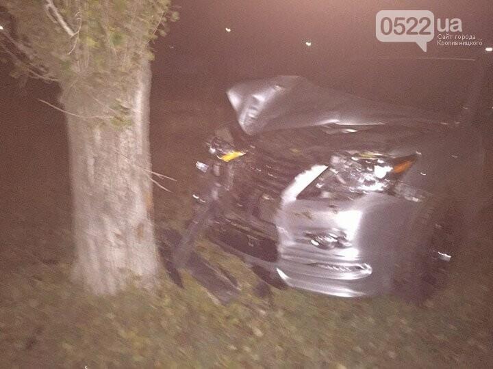 ДТП в Кропивницком: внедорожник врезался в дерево. ФОТО, фото-1