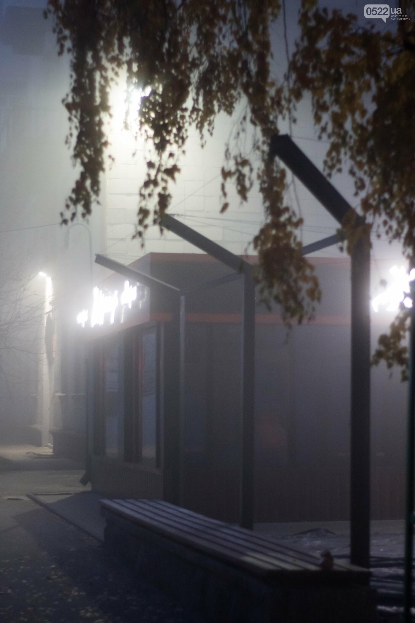 Зранку Кропивницький оповив густий туман. Фото, фото-9