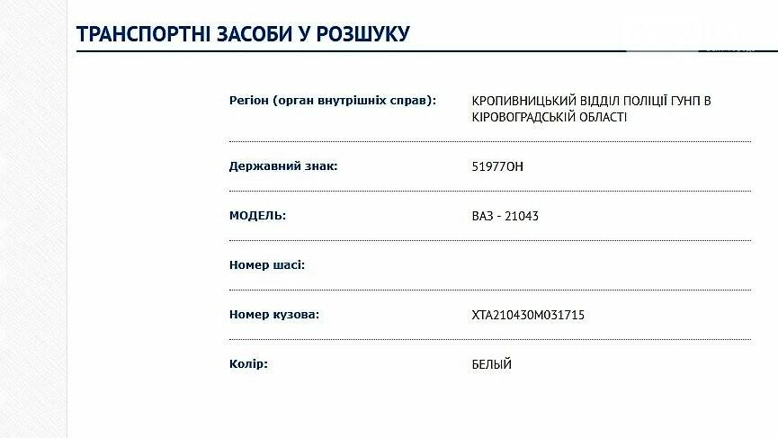Внимание! В Кропивницком угнали автомобиль, фото-1