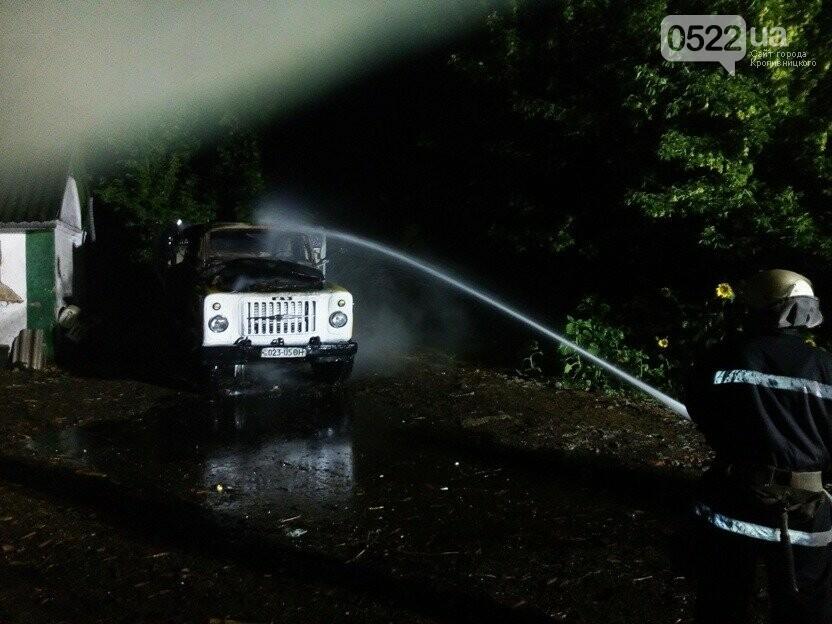 На Кіровоградщині горіла вантажівка, фото-1