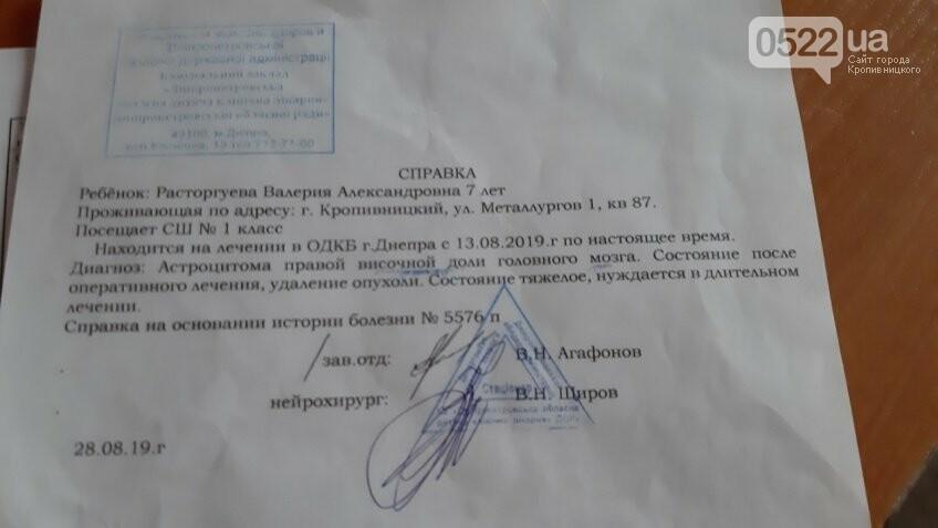Дівчинці з Кропивницького, у якої діагностували рак, терміново потрібна допомога, фото-1