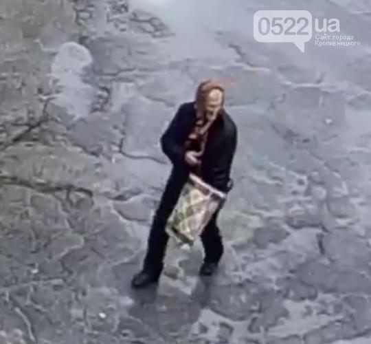 Кропивницький: літня жіночка поцупила кущ хризантем біля під'їзду (ВІДЕО), фото-1