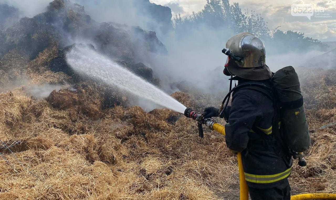 Рятувальникам повідомили про займання 10 тон соломи: ліквідація зайняла майже 10 год, фото-1