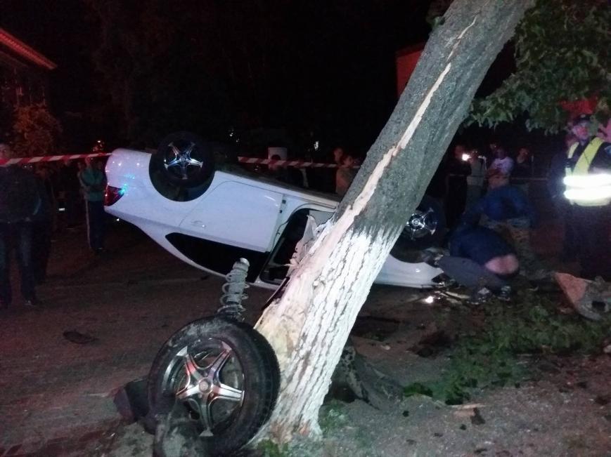 ДТП в центре Кропивницкого: одна из машин перевернулась в воздухе, снесла дерево и упала на прохожего (ФОТО), фото-5