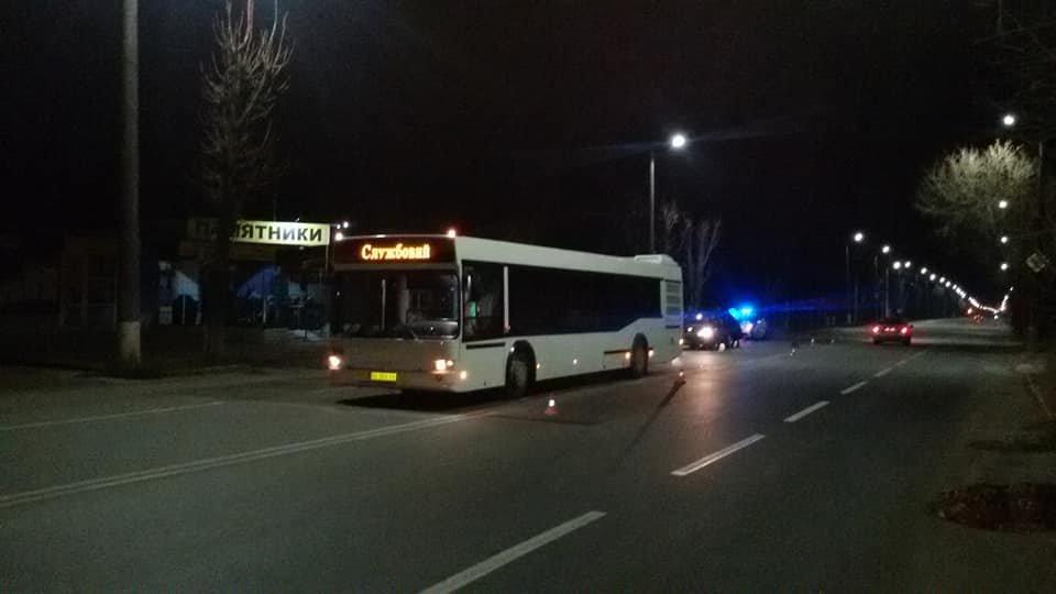 ДТП в Кропивницком: легковой автомобиль врезался в новый автобус.ФОТО, фото-1